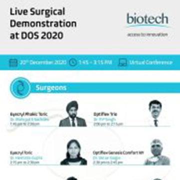Live cataract surgery at DOS  Delhi Ophthalmological Society 2020