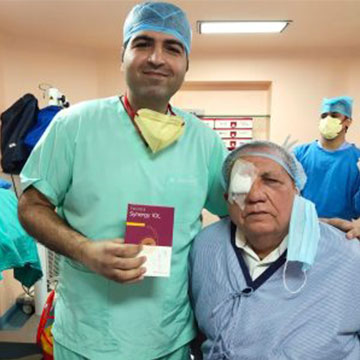 He is the 3rd Surgeon in delhi provide his patient with revolutionary vision at all distances with synergy IOL